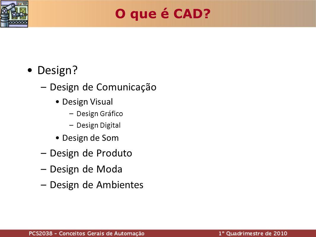 O que é CAD Design Design de Comunicação Design de Produto
