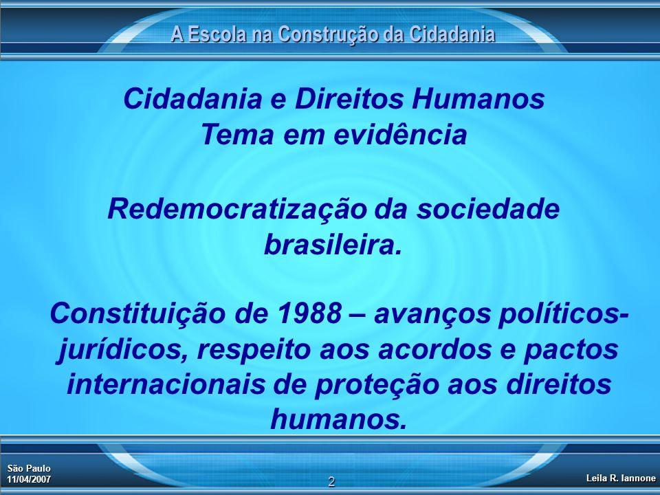 Cidadania e Direitos Humanos Tema em evidência