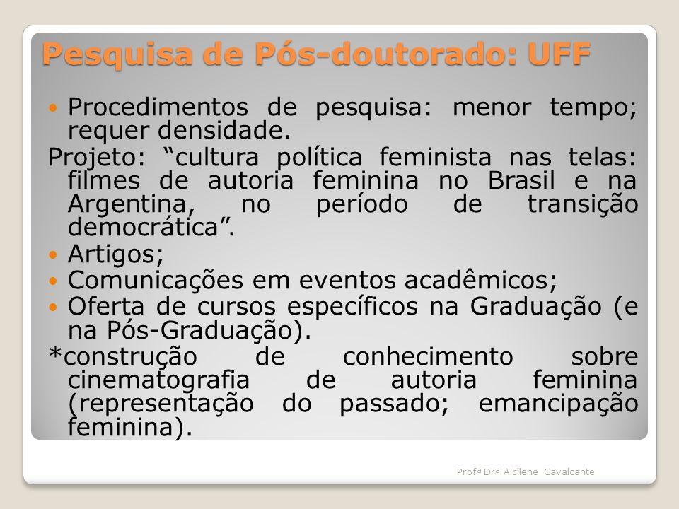 Pesquisa de Pós-doutorado: UFF