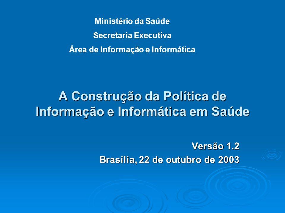 A Construção da Política de Informação e Informática em Saúde