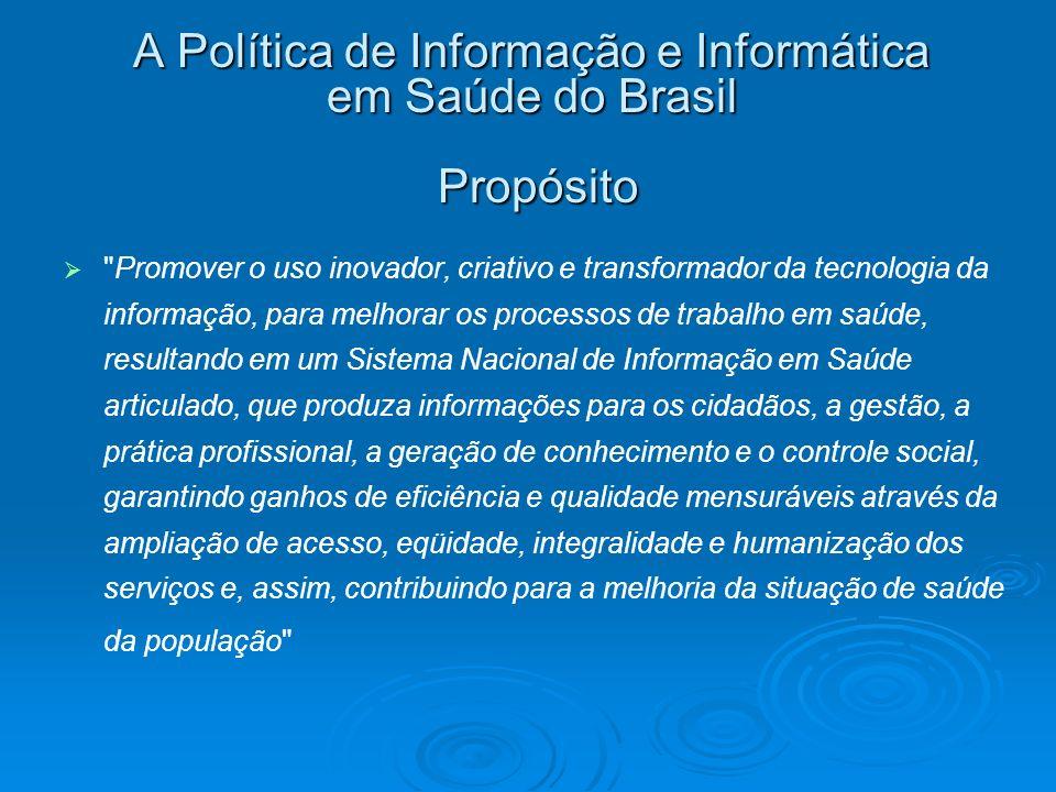 A Política de Informação e Informática em Saúde do Brasil Propósito