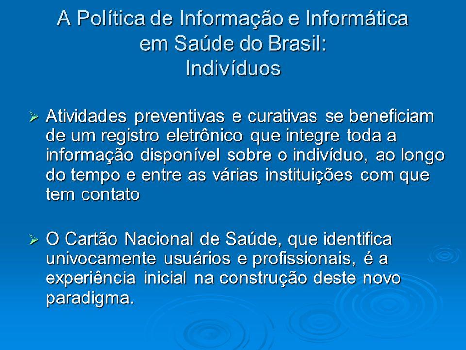 A Política de Informação e Informática em Saúde do Brasil: Indivíduos