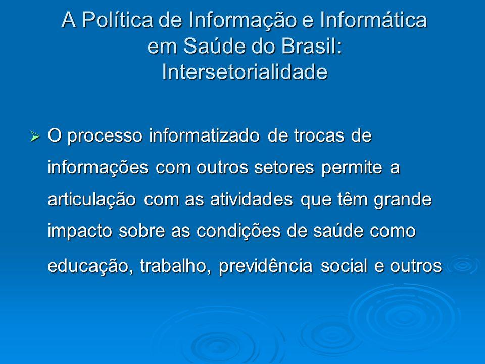 A Política de Informação e Informática em Saúde do Brasil: Intersetorialidade