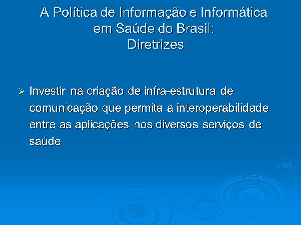 A Política de Informação e Informática em Saúde do Brasil: Diretrizes