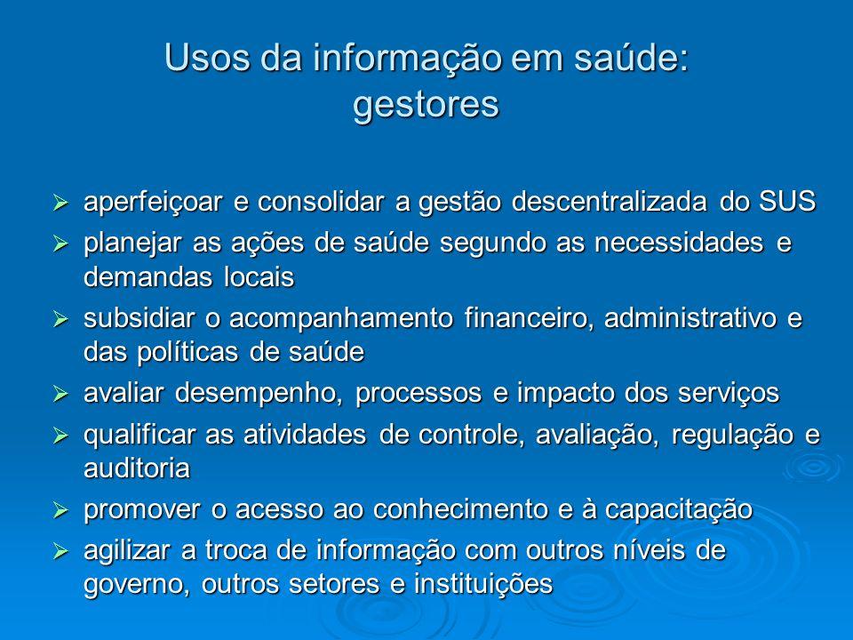 Usos da informação em saúde: gestores