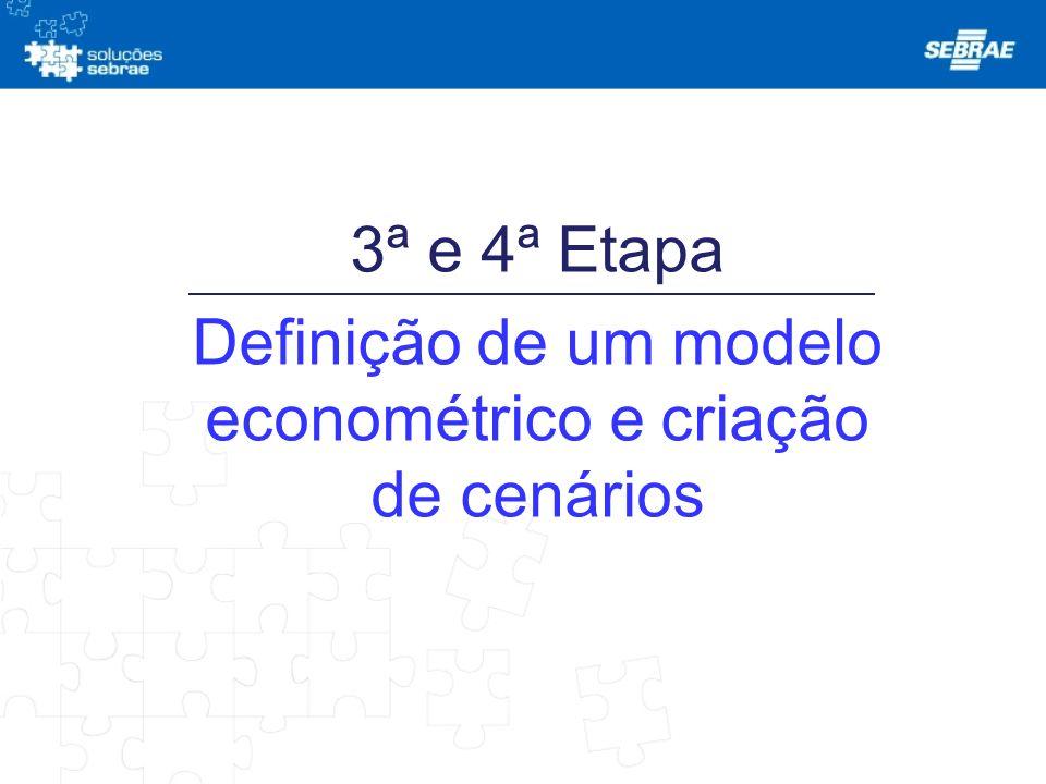 Definição de um modelo econométrico e criação de cenários