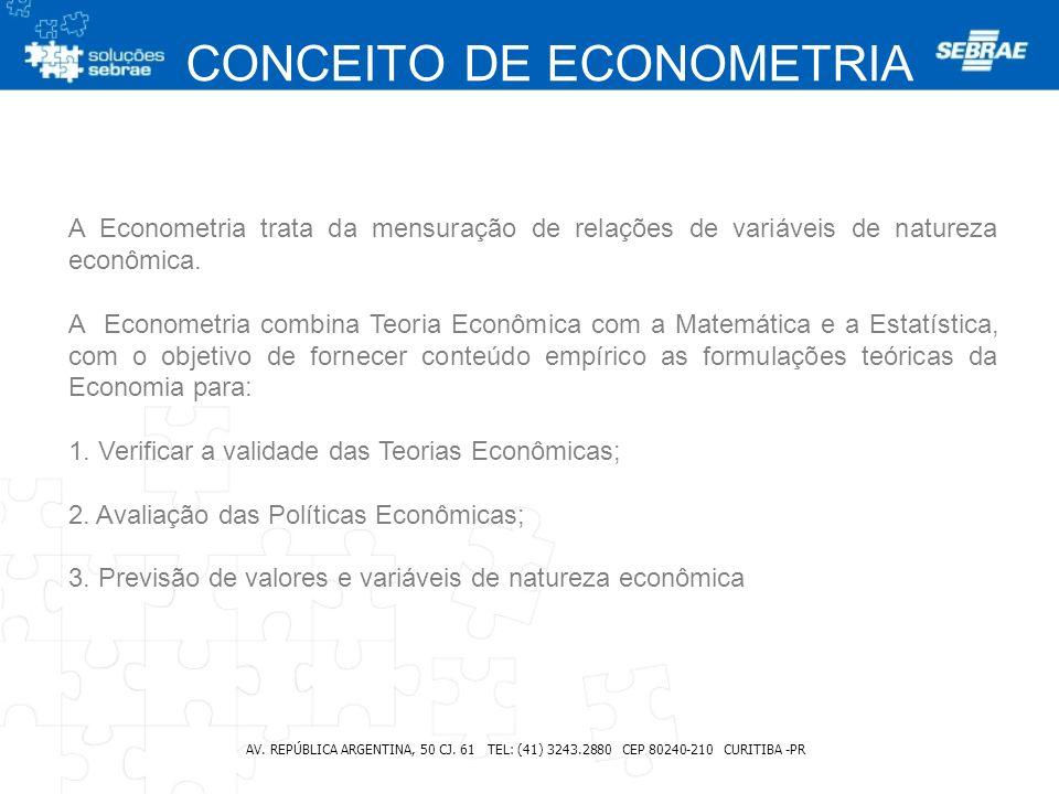CONCEITO DE ECONOMETRIA