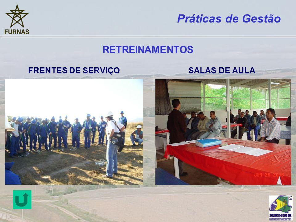 Práticas de Gestão RETREINAMENTOS FRENTES DE SERVIÇO SALAS DE AULA