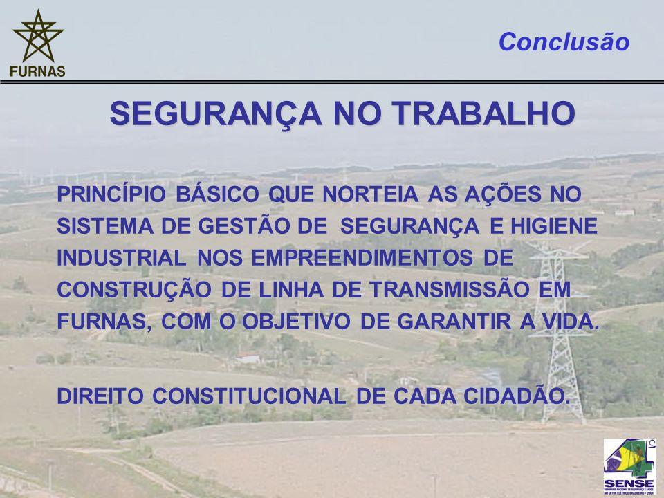 SEGURANÇA NO TRABALHO Conclusão