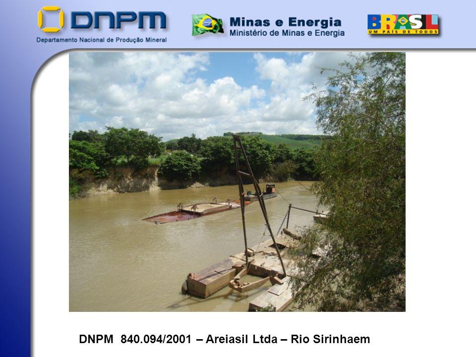 DNPM 840.094/2001 – Areiasil Ltda – Rio Sirinhaem