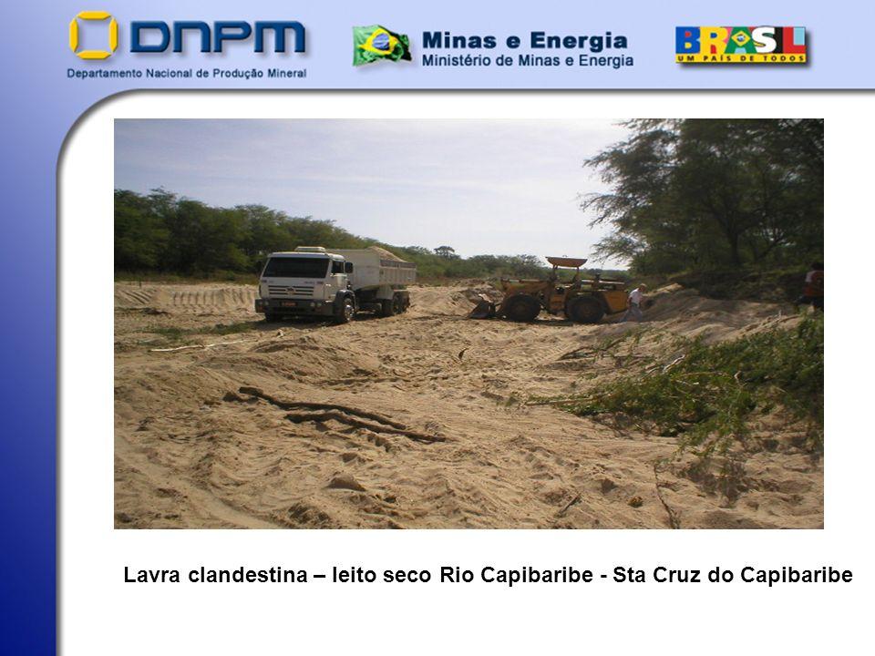 Lavra clandestina – leito seco Rio Capibaribe - Sta Cruz do Capibaribe