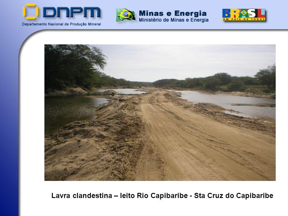Lavra clandestina – leito Rio Capibaribe - Sta Cruz do Capibaribe