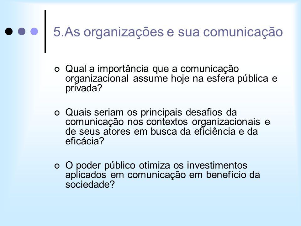 5.As organizações e sua comunicação