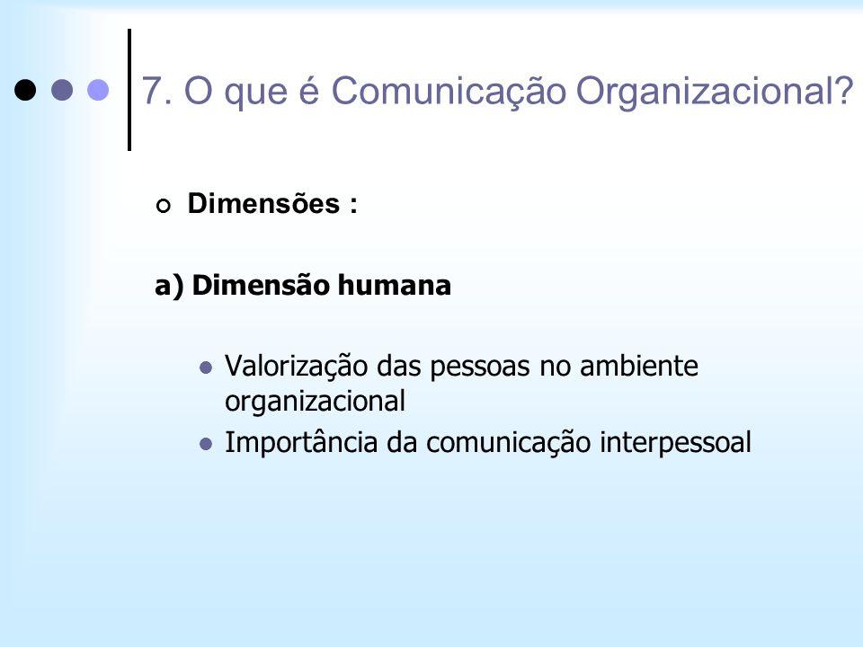 7. O que é Comunicação Organizacional