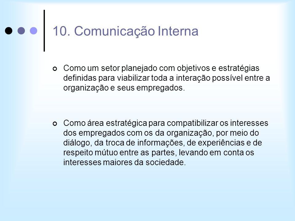 10. Comunicação Interna