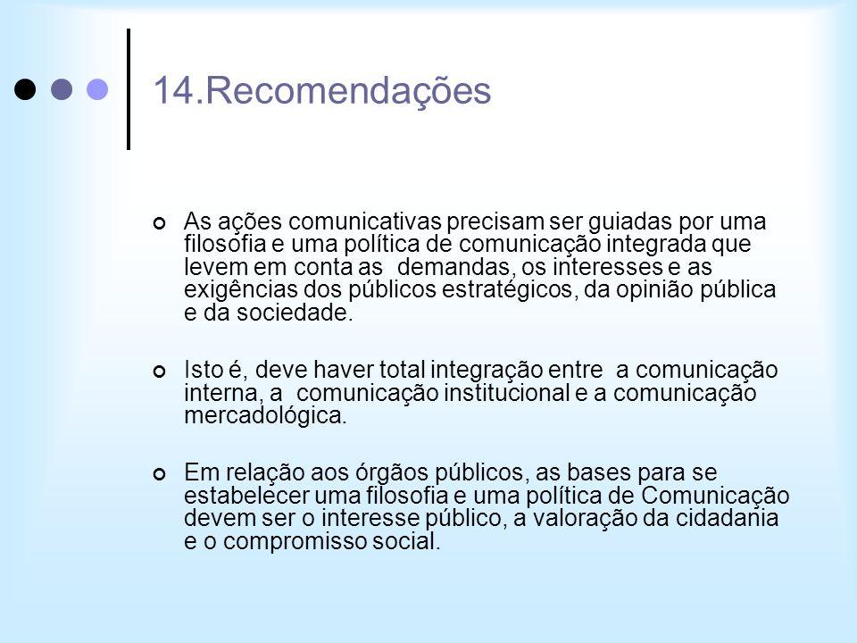 14.Recomendações