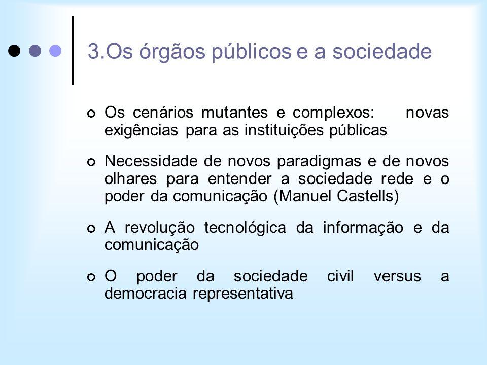 3.Os órgãos públicos e a sociedade