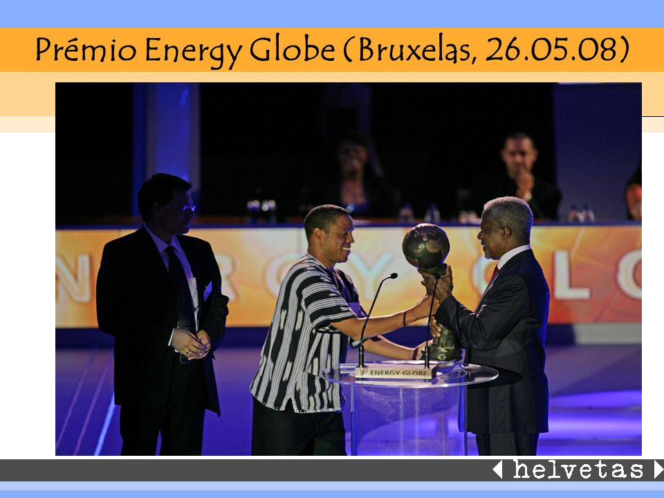 Prémio Energy Globe (Bruxelas, 26.05.08)