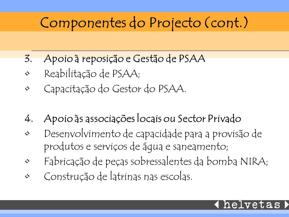 Componentes do Projecto (cont.)