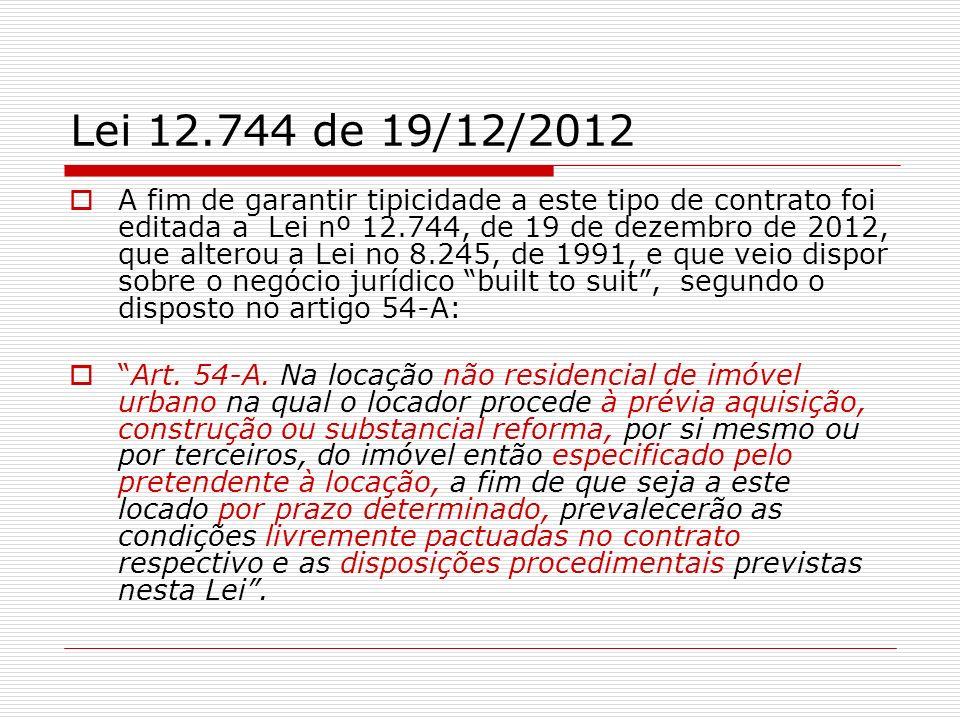 Lei 12.744 de 19/12/2012