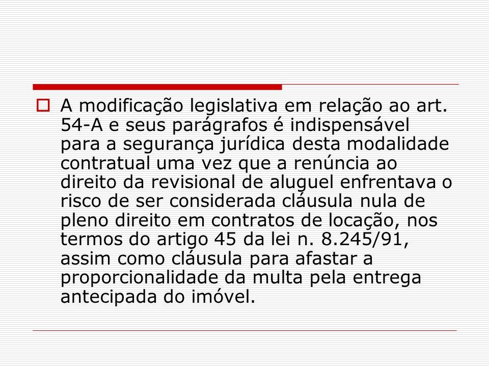A modificação legislativa em relação ao art
