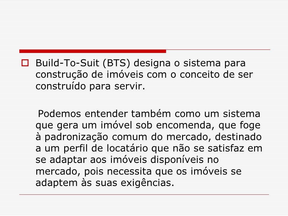 Build-To-Suit (BTS) designa o sistema para construção de imóveis com o conceito de ser construído para servir.