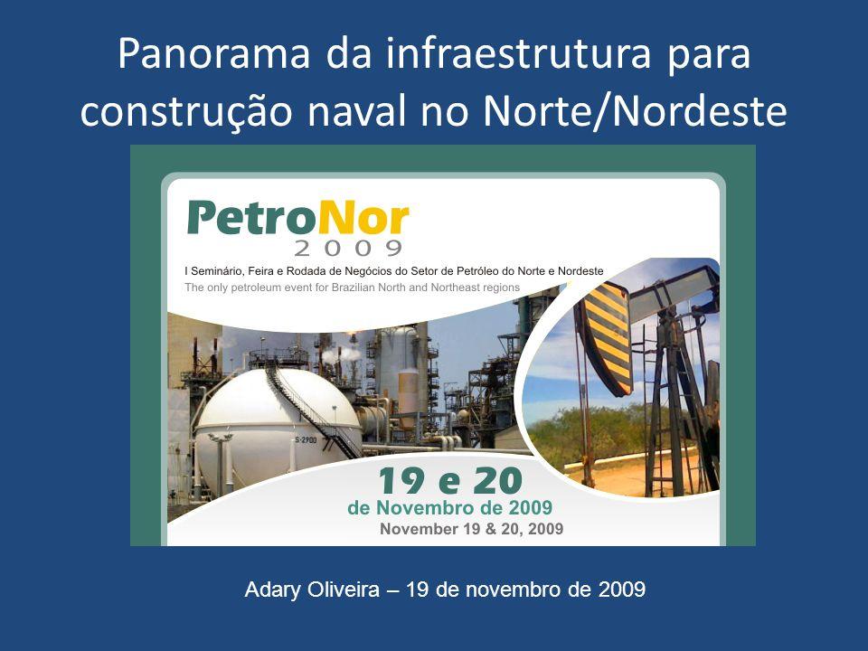 Panorama da infraestrutura para construção naval no Norte/Nordeste