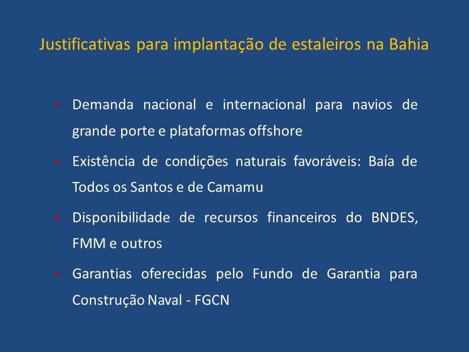 Justificativas para implantação de estaleiros na Bahia