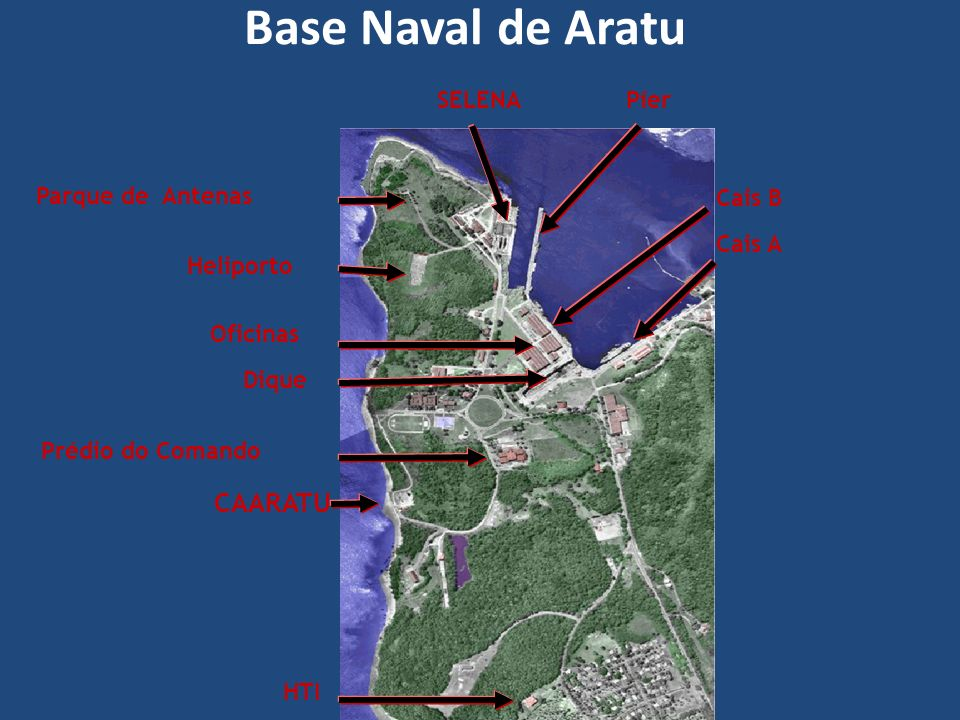 Base Naval de Aratu CAARATU SELENA Píer Parque de Antenas Cais B
