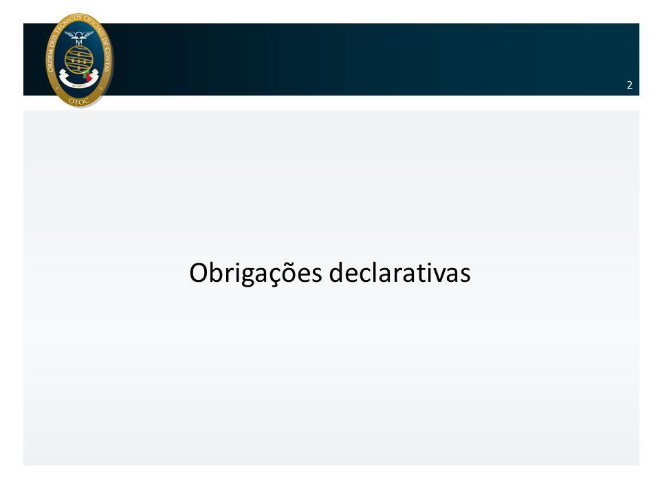 Obrigações declarativas