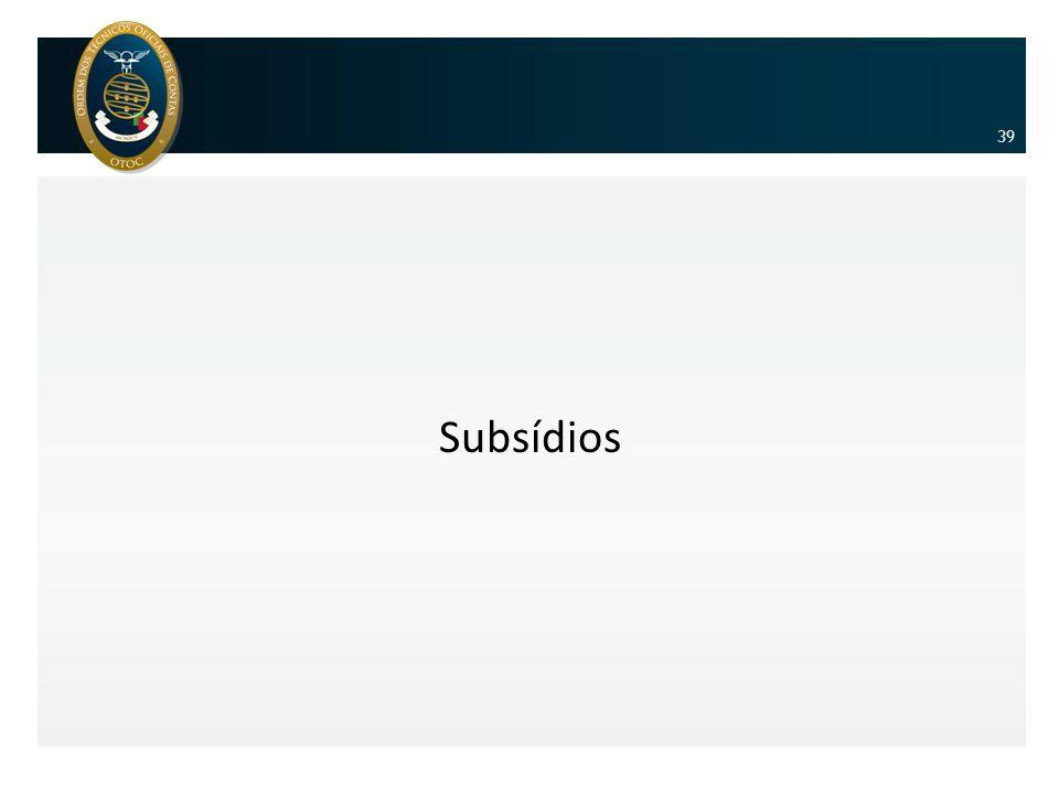 39 Subsídios