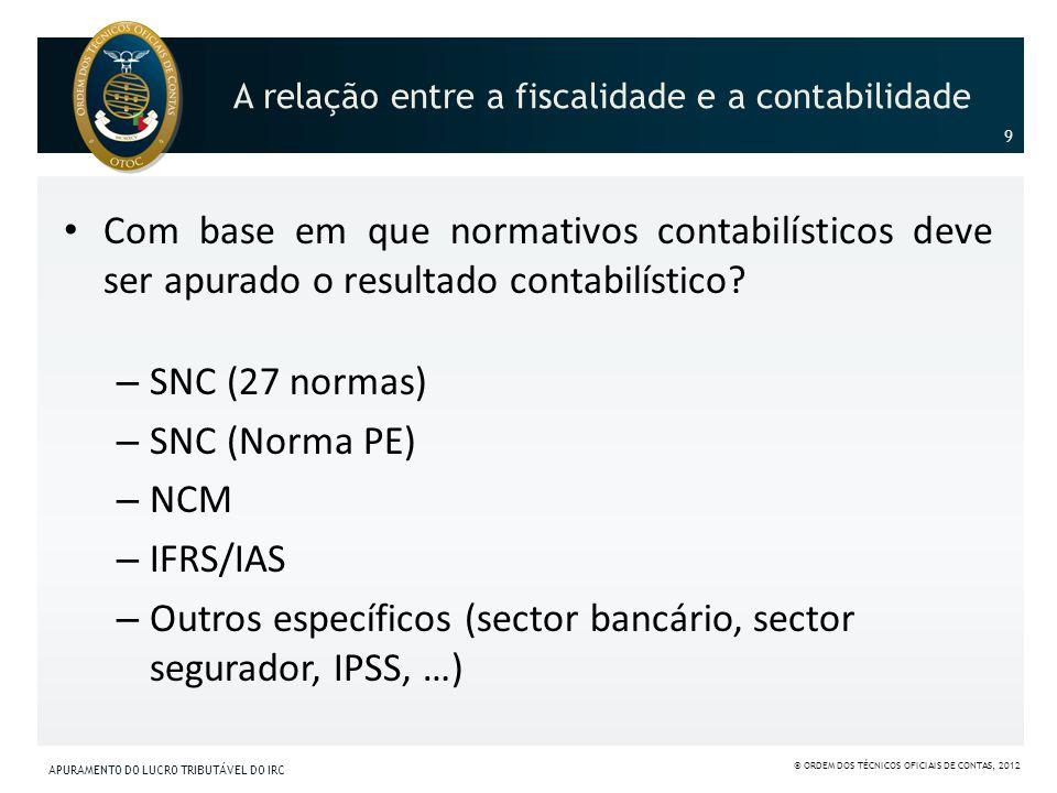 A relação entre a fiscalidade e a contabilidade
