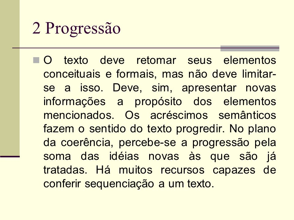 2 Progressão