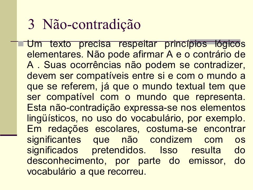 3 Não-contradição