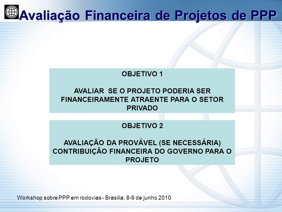 Avaliação Financeira de Projetos de PPP