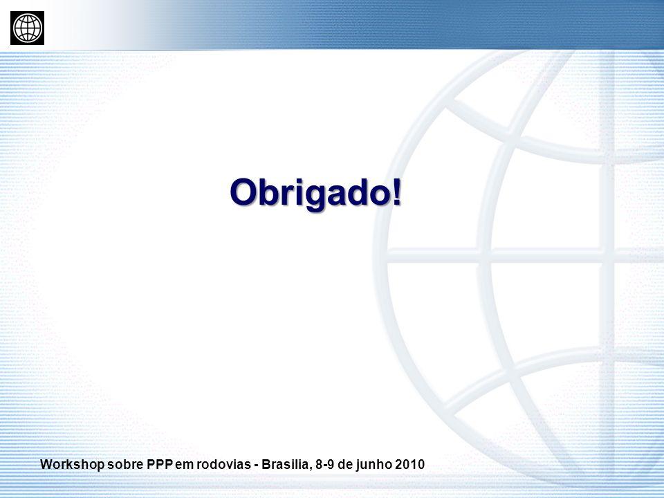 Obrigado! Workshop sobre PPP em rodovias - Brasilia, 8-9 de junho 2010