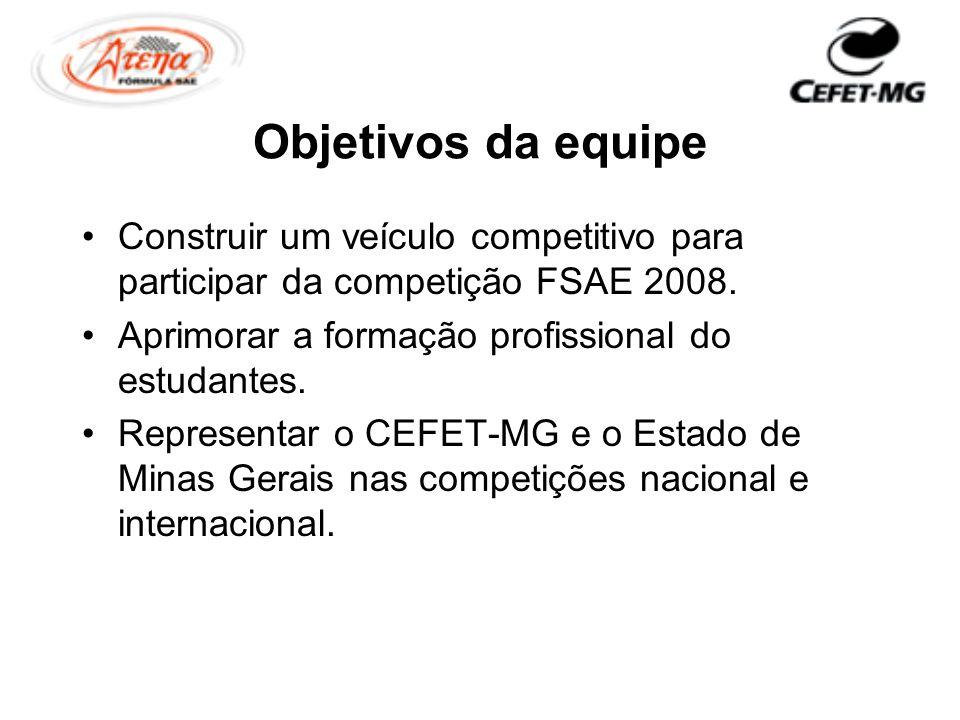Objetivos da equipe Construir um veículo competitivo para participar da competição FSAE 2008. Aprimorar a formação profissional do estudantes.