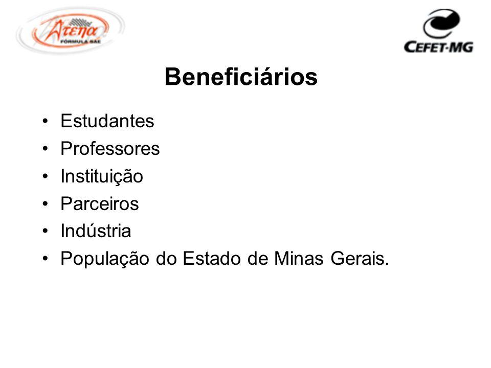 Beneficiários Estudantes Professores Instituição Parceiros Indústria