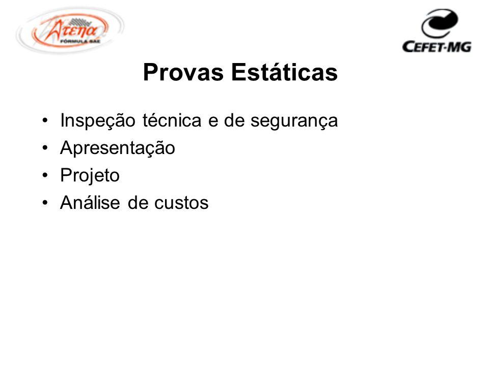 Provas Estáticas Inspeção técnica e de segurança Apresentação Projeto