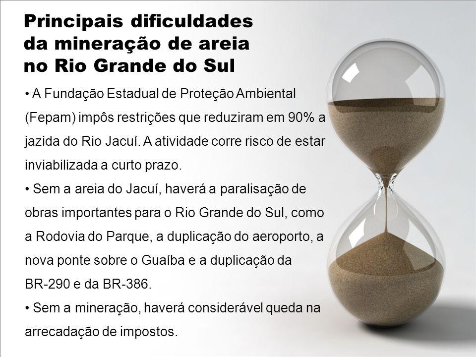 Principais dificuldades da mineração de areia no Rio Grande do Sul