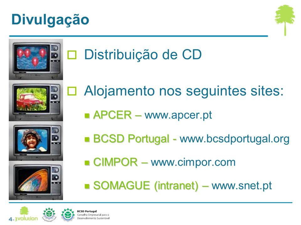 Divulgação Distribuição de CD Alojamento nos seguintes sites: