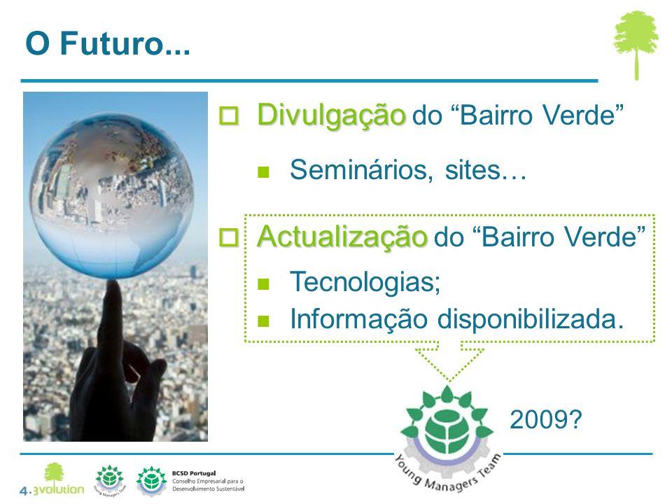 O Futuro... Divulgação do Bairro Verde