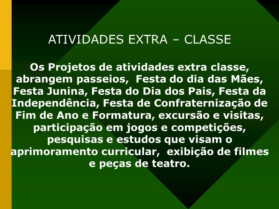 ATIVIDADES EXTRA – CLASSE