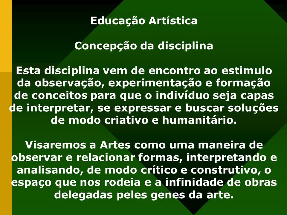 Concepção da disciplina