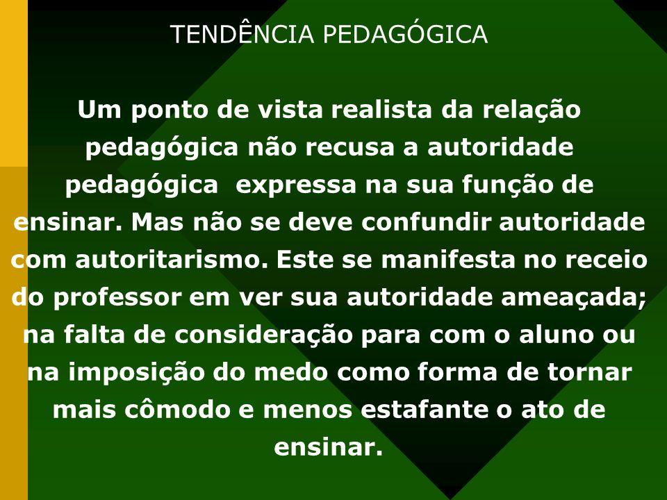 TENDÊNCIA PEDAGÓGICA