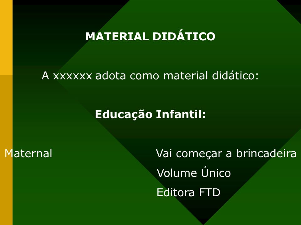 MATERIAL DIDÁTICO Educação Infantil: