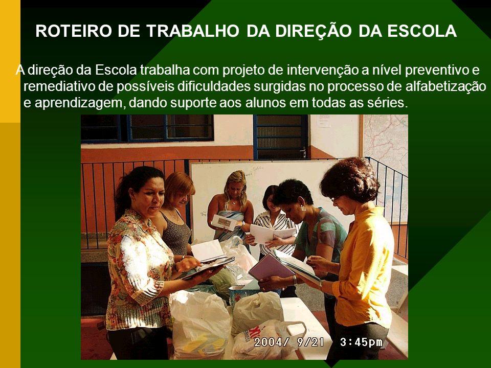 ROTEIRO DE TRABALHO DA DIREÇÃO DA ESCOLA