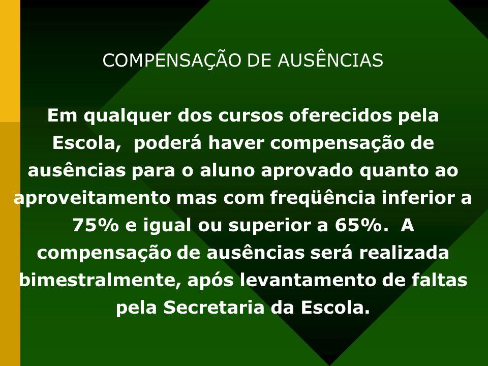 COMPENSAÇÃO DE AUSÊNCIAS