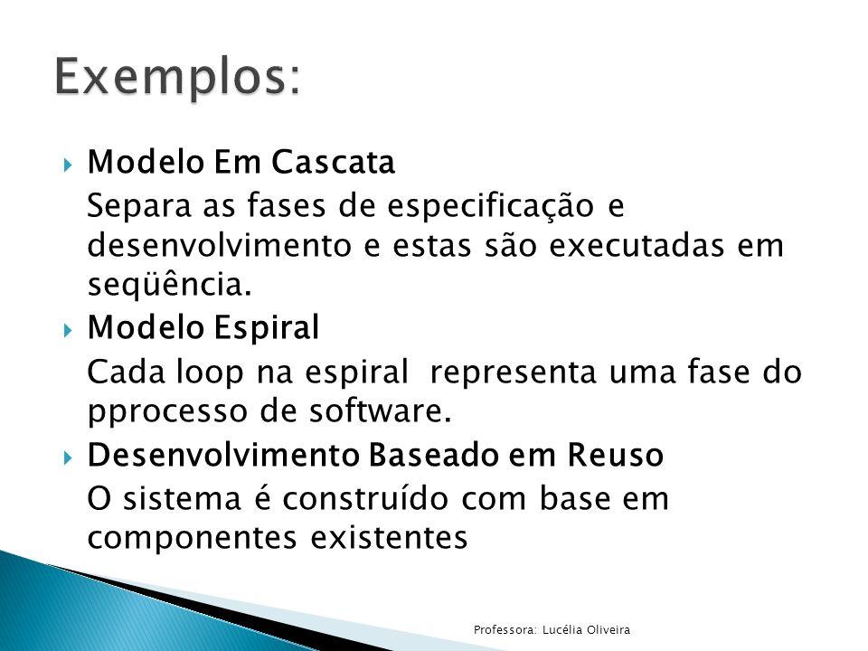 Exemplos: Modelo Em Cascata