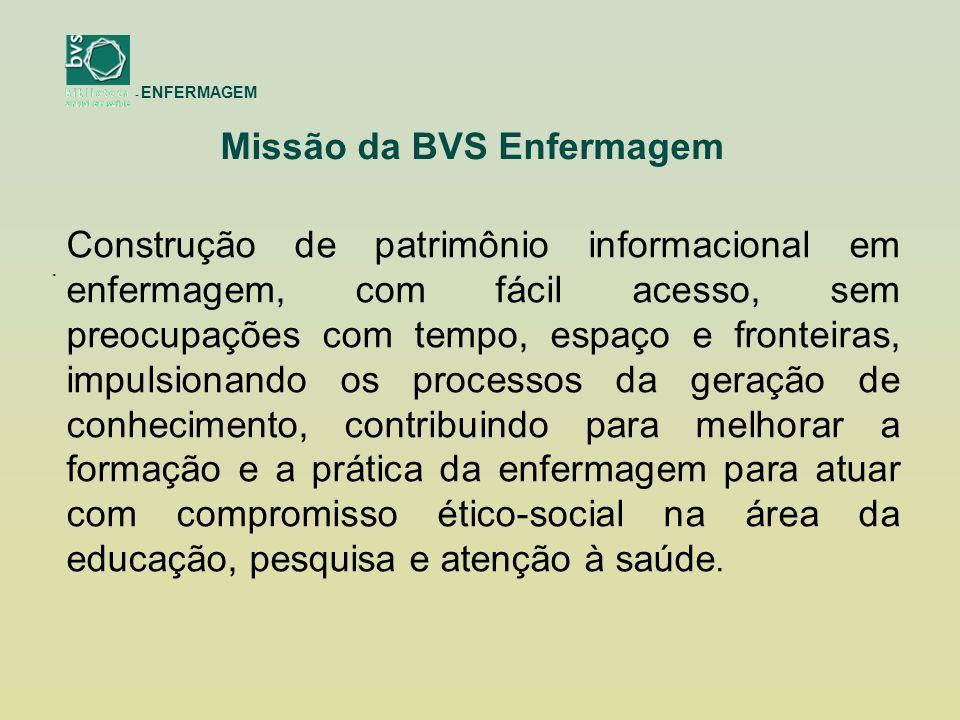 Missão da BVS Enfermagem